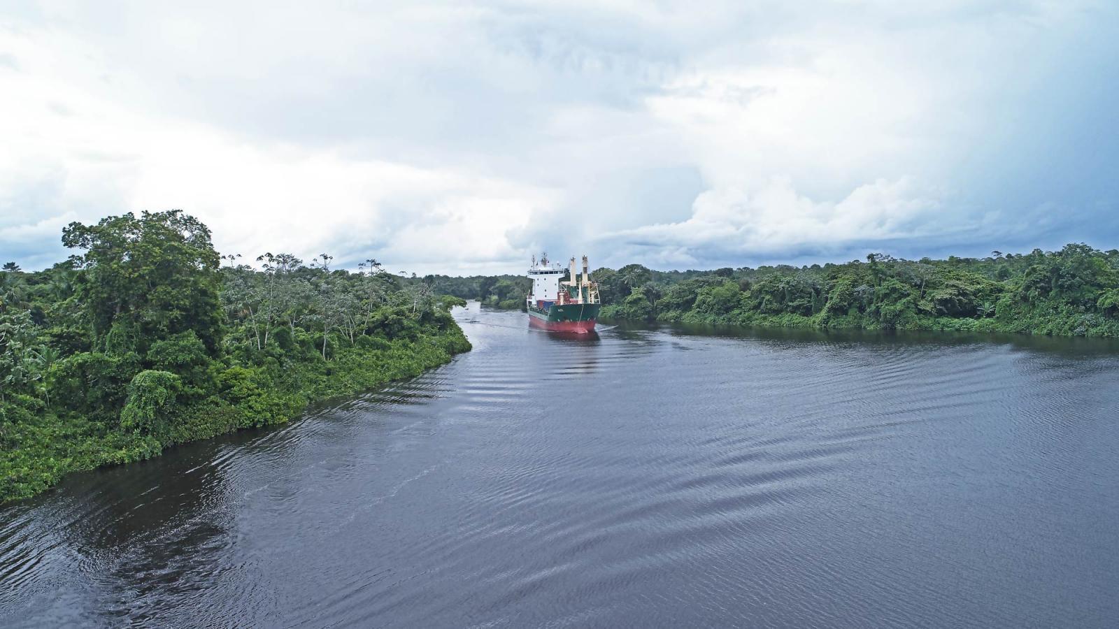 Nautical accessibility Cottica - Commewijne river